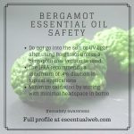 bergamot essential oil safety