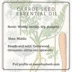carrot seed essential oil profile