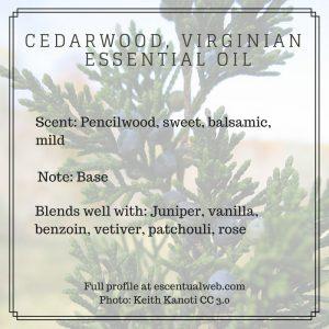 virginian cedarwood essential oil profile