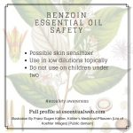 benzoin essential oil safety