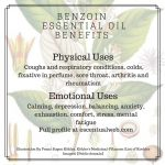 uses and benefits of benzoin essential oil
