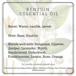 essential oil profile benzoin