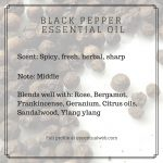 essential oil profile black pepper