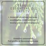 cypress essential oil safety