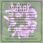 Safety tips for geranium essential oil
