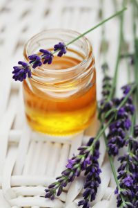 Lavender Honey in a jar