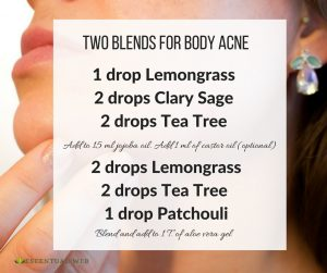 Essential Oil blends for body acne with lemongrass