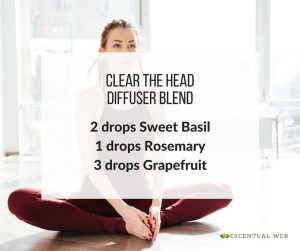 diffuser blend for clear head with basil, rosemary and grapefruit