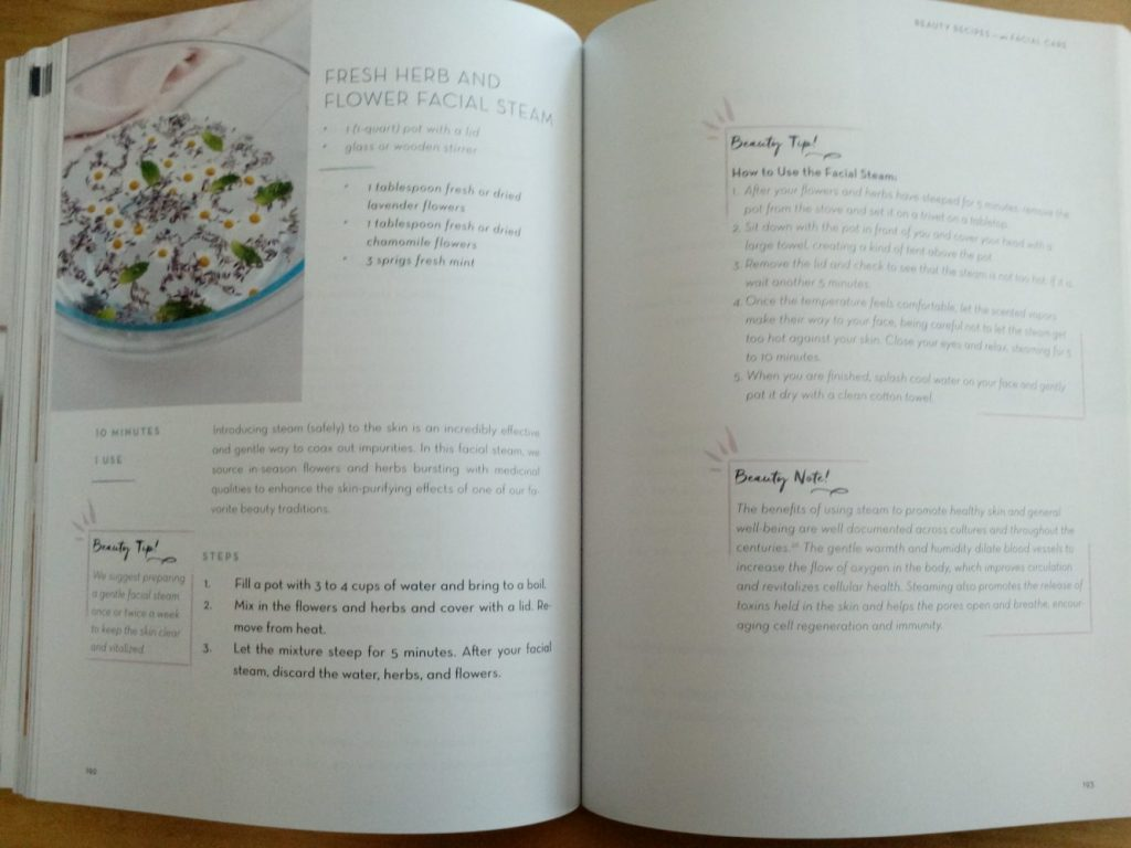 Example page of a recipe from the book Plant Powered Beauty
